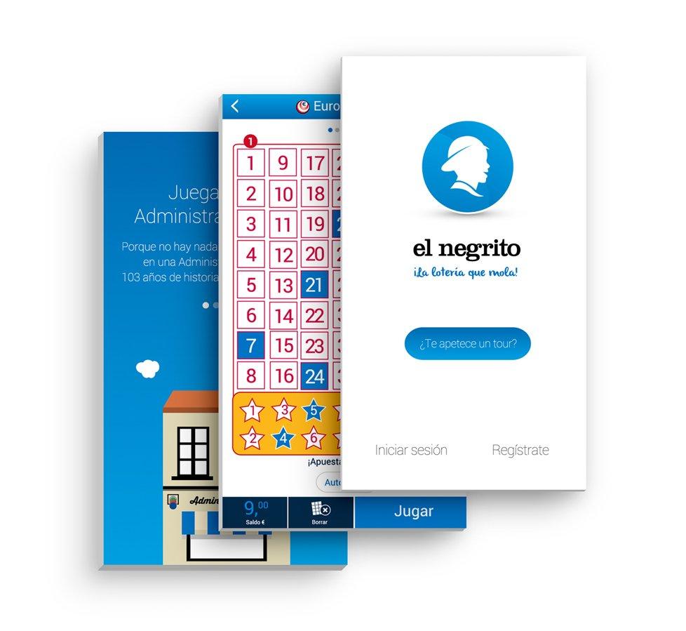 Imágenes de la página web El Negrito en versión móvil