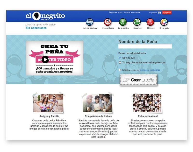 Diseño de la página web de El Negrito