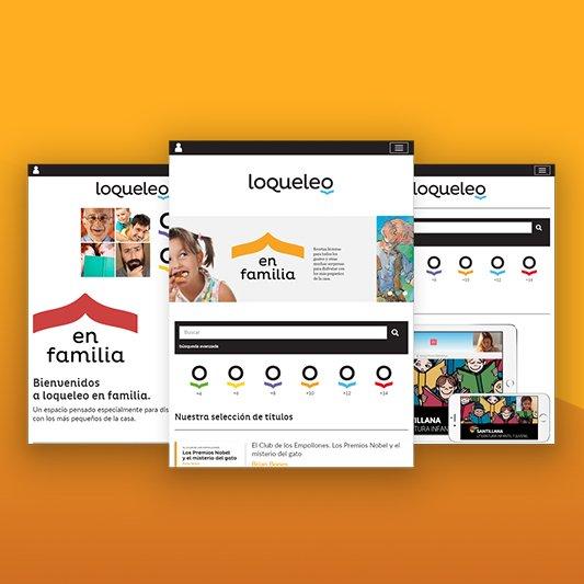 Diseño página web de Loqueleo