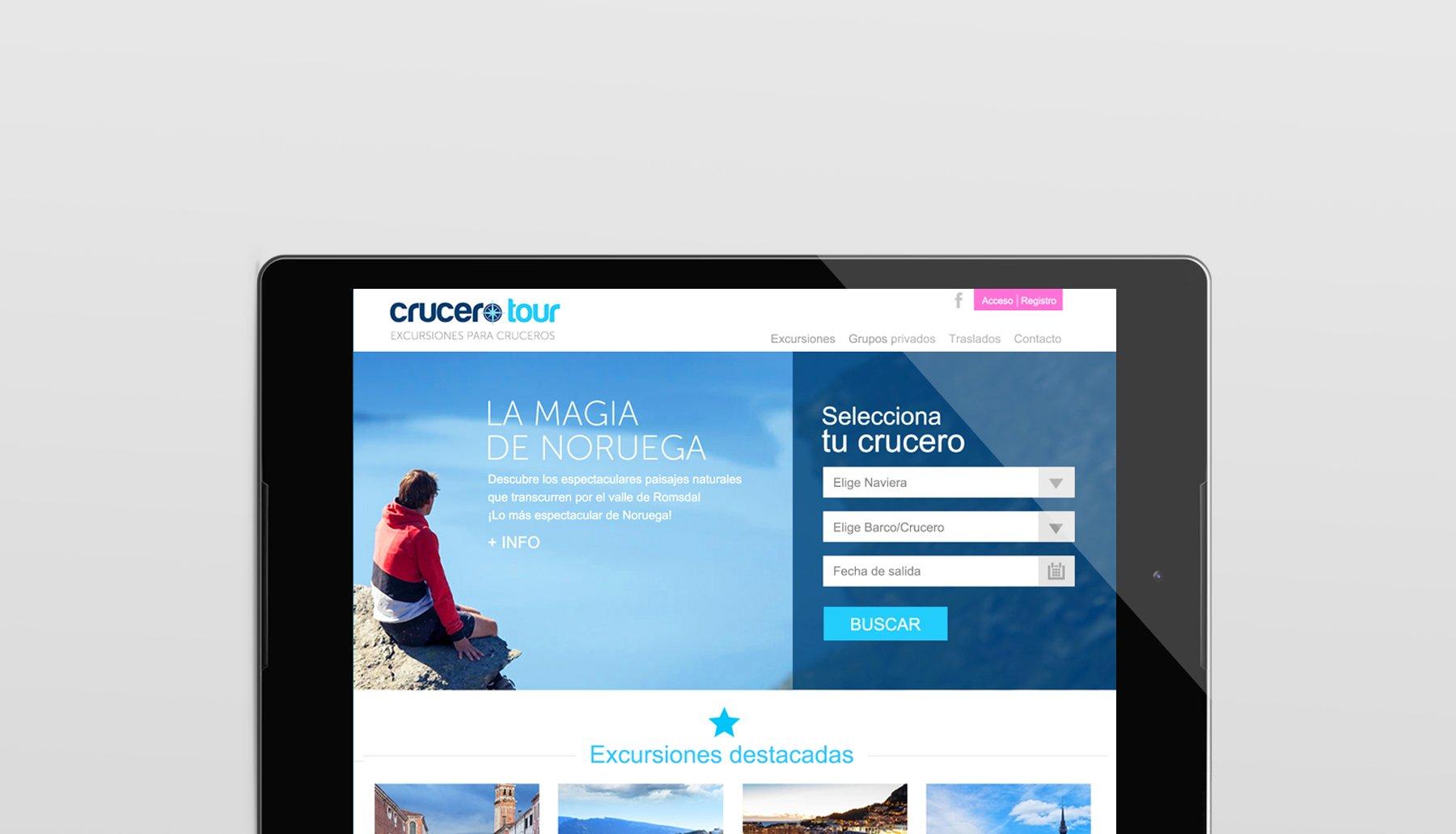 Cabecera de página del proyecto Crucero Tour