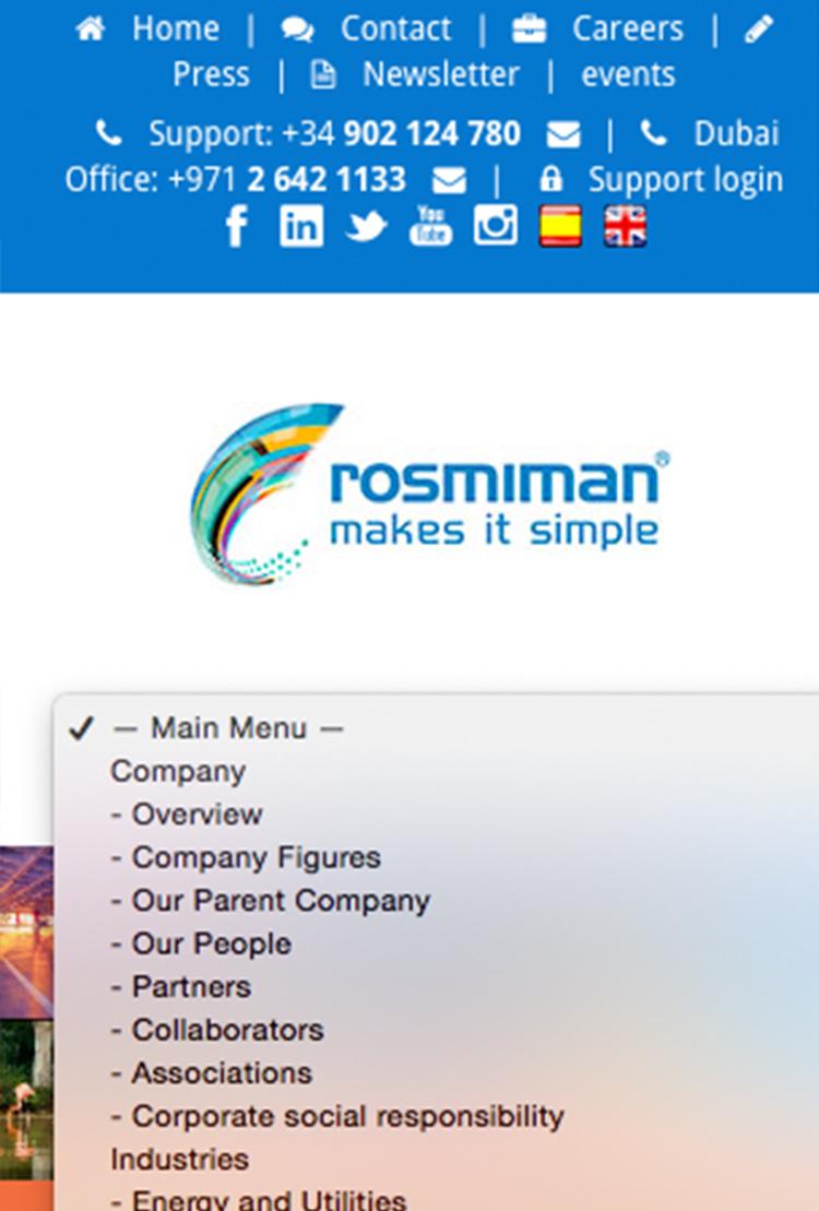 diseño mobile responsive rosmiman
