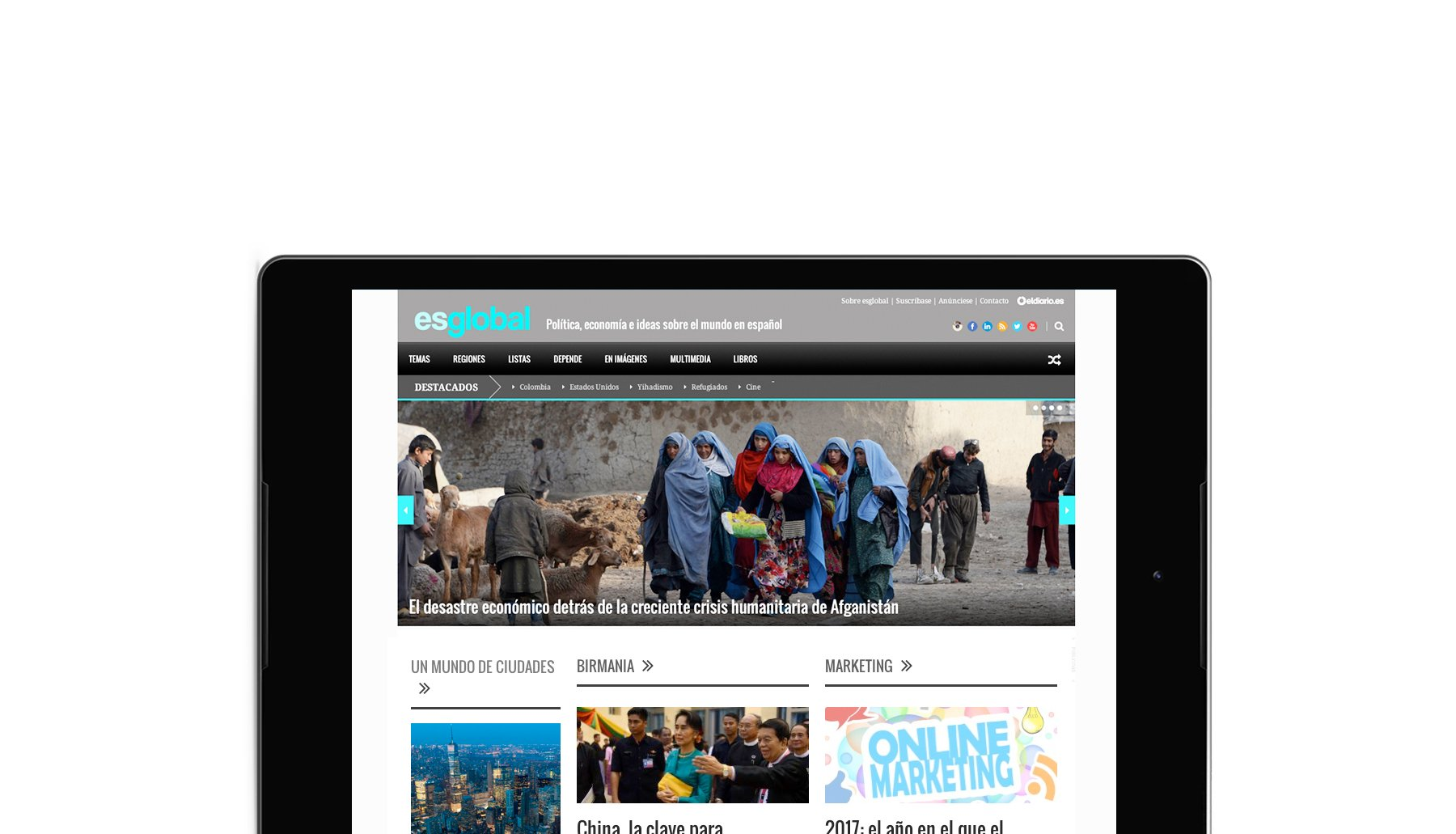 Cabecera de página del proyecto Esglobal