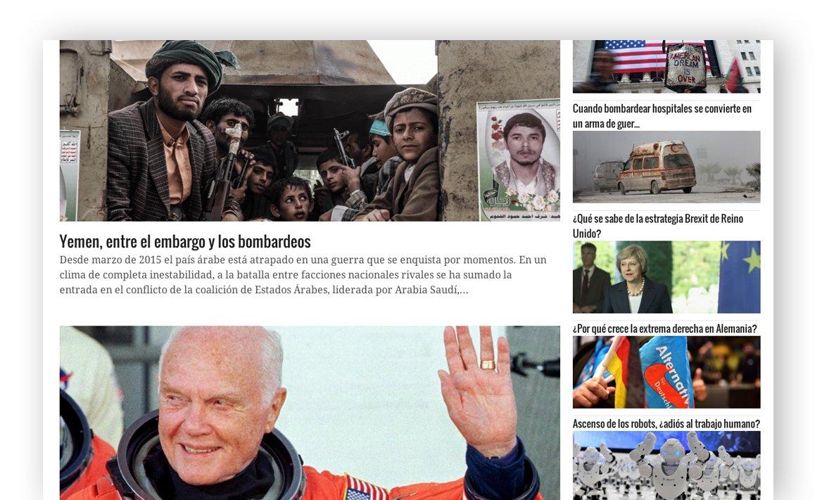 Noticias de la página web de Esglobal
