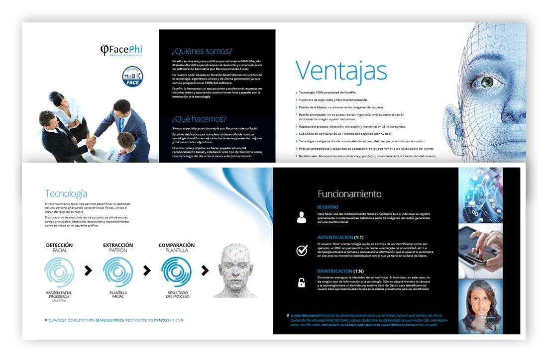 Diseño de la página web de Facephi