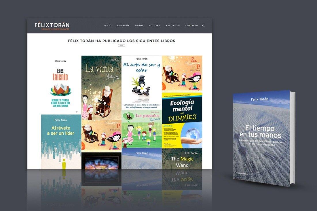 Diseño de la página web de Félix Torán y libro El tiempo en tus manos
