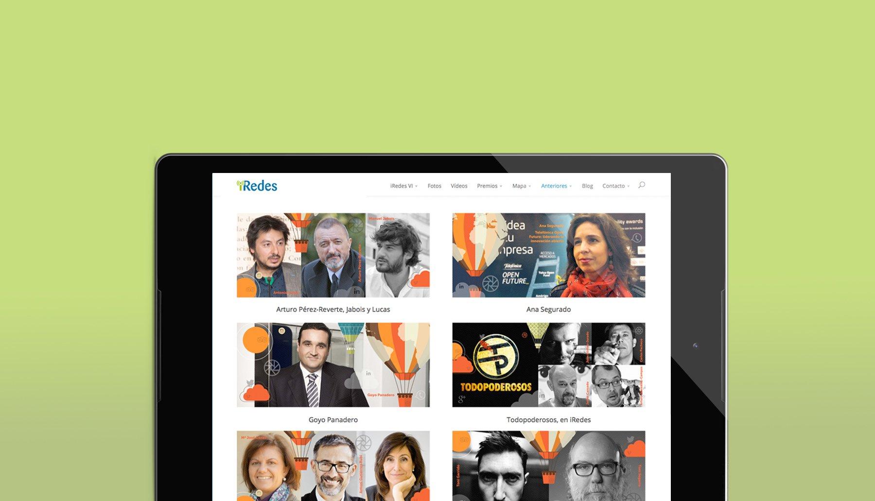 Cabecera de página del proyecto Iredes