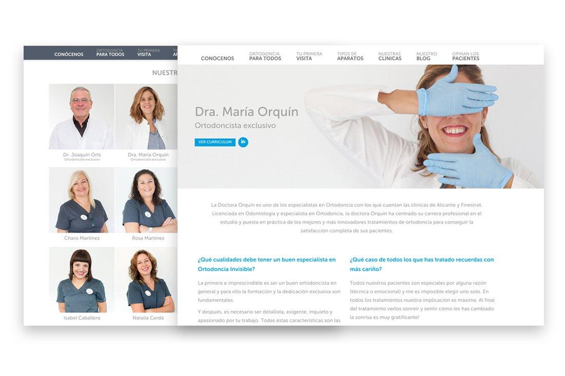 Diseño de la página web de Novasmile