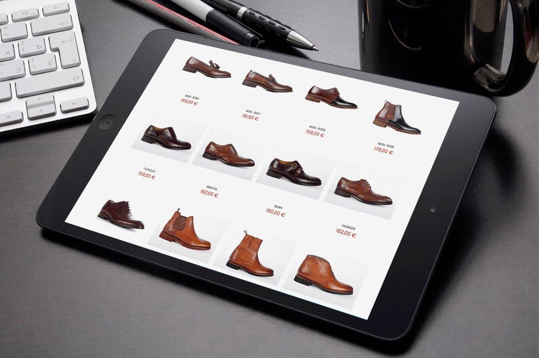 Imagen de la tienda online de Roberto Ley en Ipad